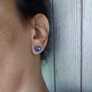 Blue Sapphire Swarovski Crystal EARRINGS